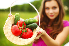 Take vegetables Royalty Free Stock Photography
