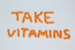 Take vitamins Royalty Free Stock Photo