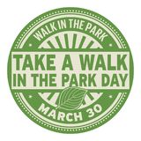 Take a Walk in the Park Day stamp. Take a Walk in the Park Day, March 30, rubber stamp, vector Illustration Royalty Free Stock Images