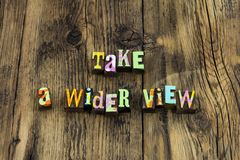 Take wide view study learn lead help teach. Letterpress letters wider education learning success ambition school faith knowledge wisdom training stock photos