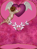 Take your heart. A Gorgeous Cupid and awesome hearts can make more lovelly day for your Valentine Specials Royalty Free Stock Photography