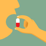 Take your medicine concept. Stock Images