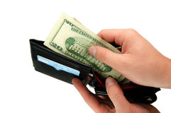 Take Your Money Royalty Free Stock Image