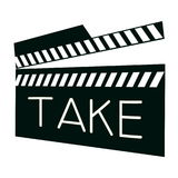 Takeaction. Take Action for Film or Cinema Stock Image