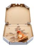 takeaway ломтика пиццы коробки Стоковые Фото