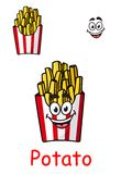 Takeaway box of fried potato chips Stock Image