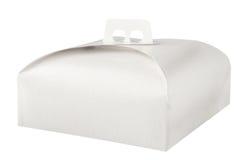 Takeaway cake box on white Royalty Free Stock Photo