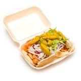 Takeaway chicken kebab Stock Photo