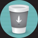 Takeaway coffee cup illustration Stock Image