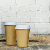 Takeaway coffee cups Stock Image