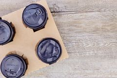 Takeaway Coffee Holder Stock Images