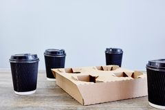 Takeaway Coffee Holder Royalty Free Stock Image