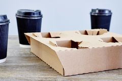 Takeaway Coffee Holder Royalty Free Stock Images