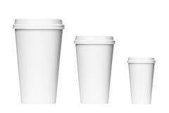 Takeaway coffee packaging Stock Photo