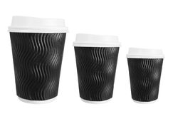 Takeaway Cups of Coffee Stock Photo