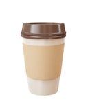 Takeaway filiżanka kawy odizolowywająca na białym tle Obrazy Royalty Free