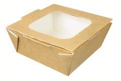 Takeaway Food Box. On White Background Stock Photo