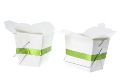 Takeaway Food Boxes. On White Background Royalty Free Stock Images