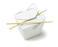 Takeaway Food Container with Chopsticks Royalty Free Stock Images