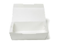 Takeaway Food Container. Empty Takeaway Food Container on White Background Stock Image
