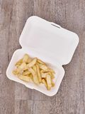 Takeaway Food Container. A studio photo of a takeaway food container Stock Image