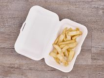 Takeaway Food Container. A studio photo of a takeaway food container Stock Images