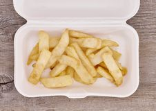 Takeaway Food Container. A studio photo of a takeaway food container Stock Photos
