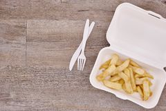 Takeaway Food Container. A studio photo of a takeaway food container Royalty Free Stock Images