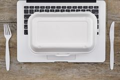 Takeaway Food Container. A studio photo of a takeaway food container Stock Photography