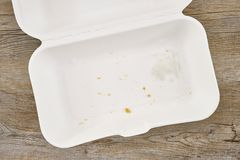 Takeaway Food Container. A studio photo of a takeaway food container Royalty Free Stock Photo