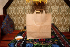Takeaway food package Stock Photography