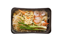 Takeaway food. Take away food - Pad Thai / Thai Noodle with shrimp in microwavable container Stock Images