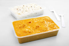 Takeaway Indian Food Chicken  Curry Royalty Free Stock Images