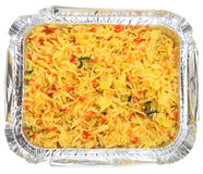Takeaway indiano do arroz de Pilau Fotos de Stock Royalty Free