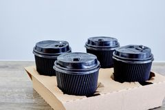 Takeaway kaffehållare Royaltyfri Bild