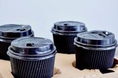 Takeaway kaffehållare Arkivbilder