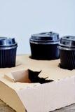 Takeaway kaffehållare Fotografering för Bildbyråer