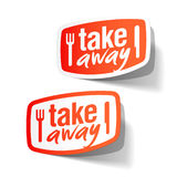 Takeaway labels Stock Photography