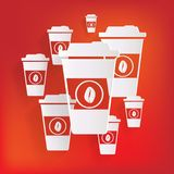 Takeaway paper coffee cup ico Royalty Free Stock Image
