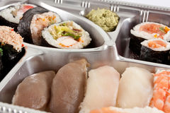 Takeaway sushi tray opened Stock Images