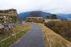 "Takeda Castle. Is a ruined castle in the city of Asago. It is regarded as one of Japan's Top 100 Castles, and often referred to locally as the ""Machu Picchu of Royalty Free Stock Images"