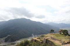 Takeda Japan. Mountain and view landscape Royalty Free Stock Photo