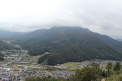Takeda Japan. Overlook the Takeda with mountain Royalty Free Stock Photo