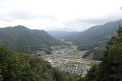 Takeda Japan. Perspective hill station Stock Photo