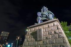 Takeda Shingen statue near Kofu station Stock Photos