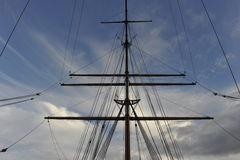 Takelung eines Segelschiffs Lizenzfreie Stockbilder
