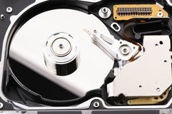 Taken apart hard disk Royalty Free Stock Photos