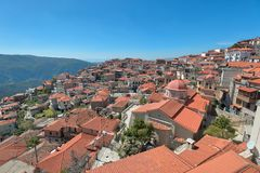 Arachova in Southern Greece taken in April 2018. Taken in April 2018 post processed in HDR Stock Images