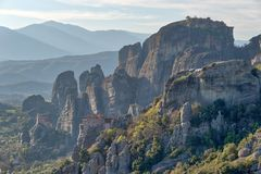 Monastery in Meteora, Northern Greece in Spring 2018 royalty free stock image