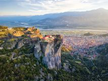 Monastery in Meteora, Northern Greece in Spring 2018 stock photos